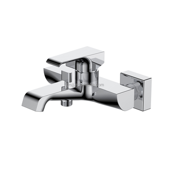 High Quality Bathroom Bath Shower Faucet New Design Square Polished Chrome Bath Mixer With