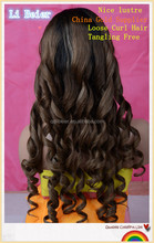 "Brazilian Hair, 100% Virgin Remy Human Hair , Clean U Part Loose Curl Wig, #6, 130% Density ,28""inch Fast Shipping"
