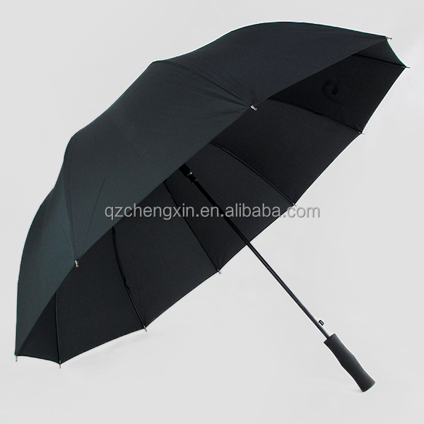 30 inch 10K uv protect silver coated black double canopy golf umbrella