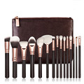 15pcs private label makeup brushes set goat hair makeup brush kit