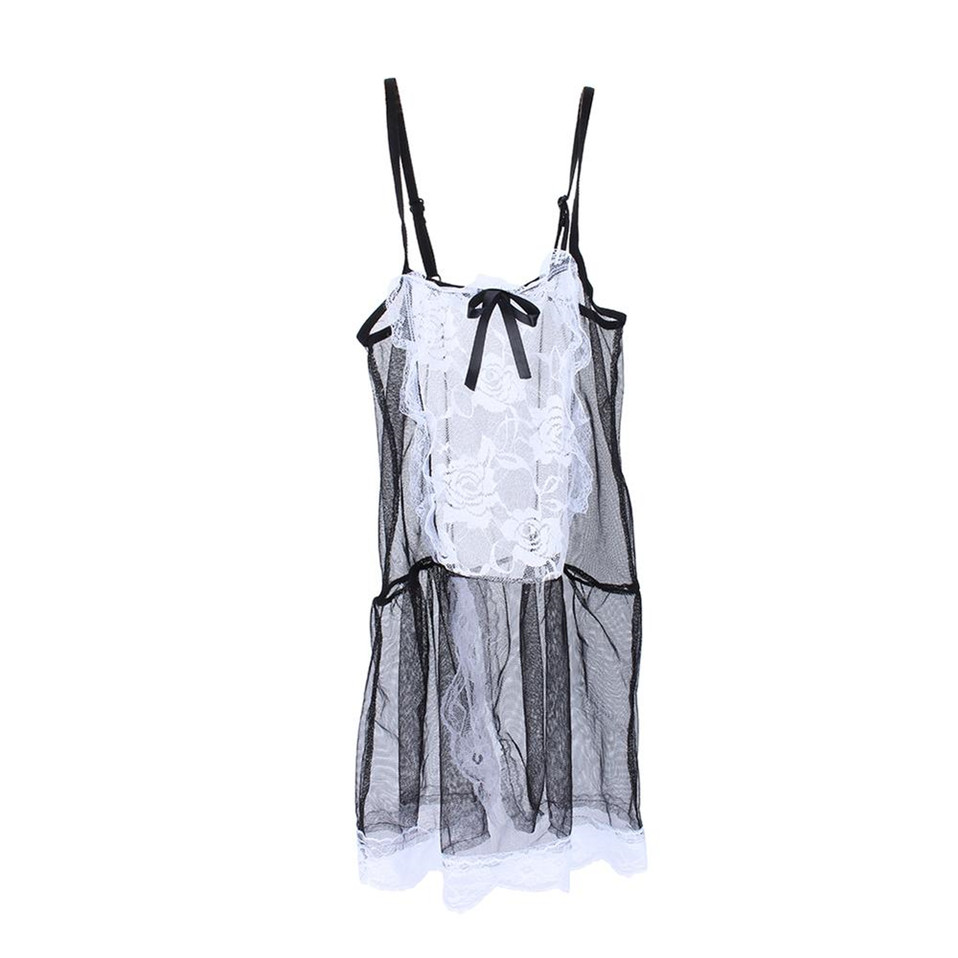 HTB1YwowgjnD8KJjSspbq6zbEXXa2 LSTRY 2020 New Bow Lace Lingerie Women French Maid Cosplay Sexy Lingerie Hot Transparent Costumes Erotic Lovely Maid Costumes