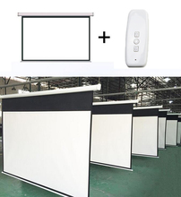 Hot selling factory price standard 100 inch motorized projector screen 16:9 electric projection screen