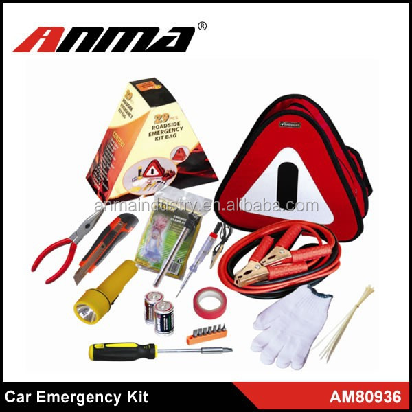 protable auto safety tool kit/roadside emergency kit factory
