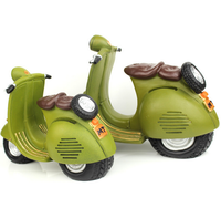 OEM plastic cartoon motorcycle custom coin bank for child