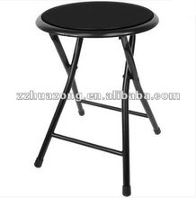 18 Inch Cushioned Folding Stool with Power Coating Steel Leg