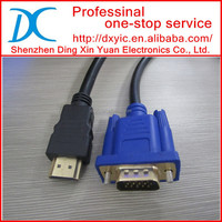 1.3V Gold HDMI to VGA cable for mac Male Cable Male to Male HDMI to VGA vga to hdmi cable