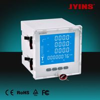 CE LCD 96*96*80mm 3 phase 4 wire kwh meter