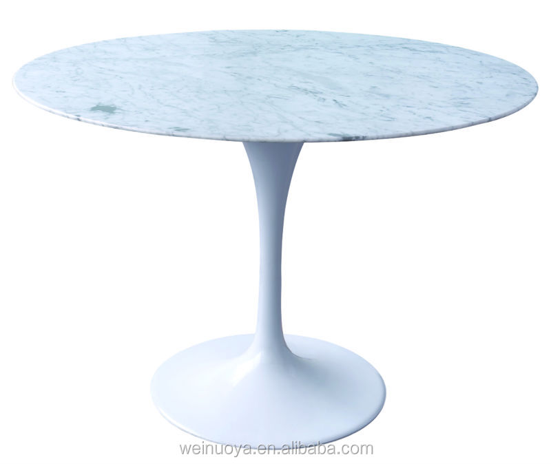 hot sale modern fiberglass dining table with marble top
