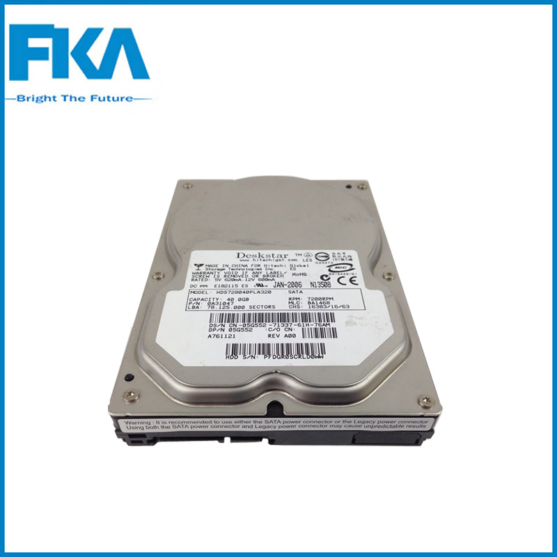 Refurbished 3.5'' 40GB 2MB 7200Rpm 5G552 HDS728040PLA320 For Dell Hard Disk Drive