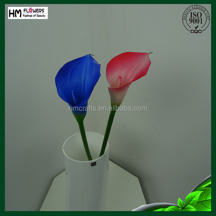 Plastic PVC cala lily flowers for home decoration