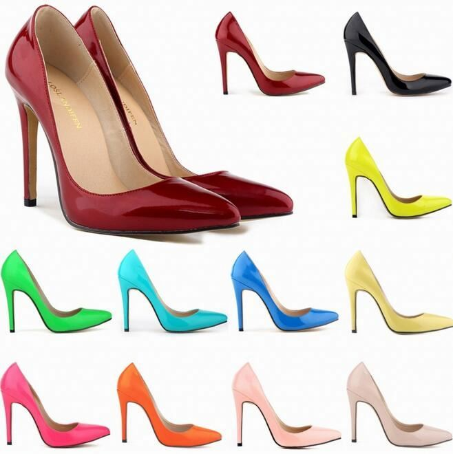 Wholesale fashion sexy elegent shallow pumps women high heel wedding dress shoes