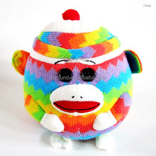 knitted material new type monkey soft stuffed plush round gift kids CE toy