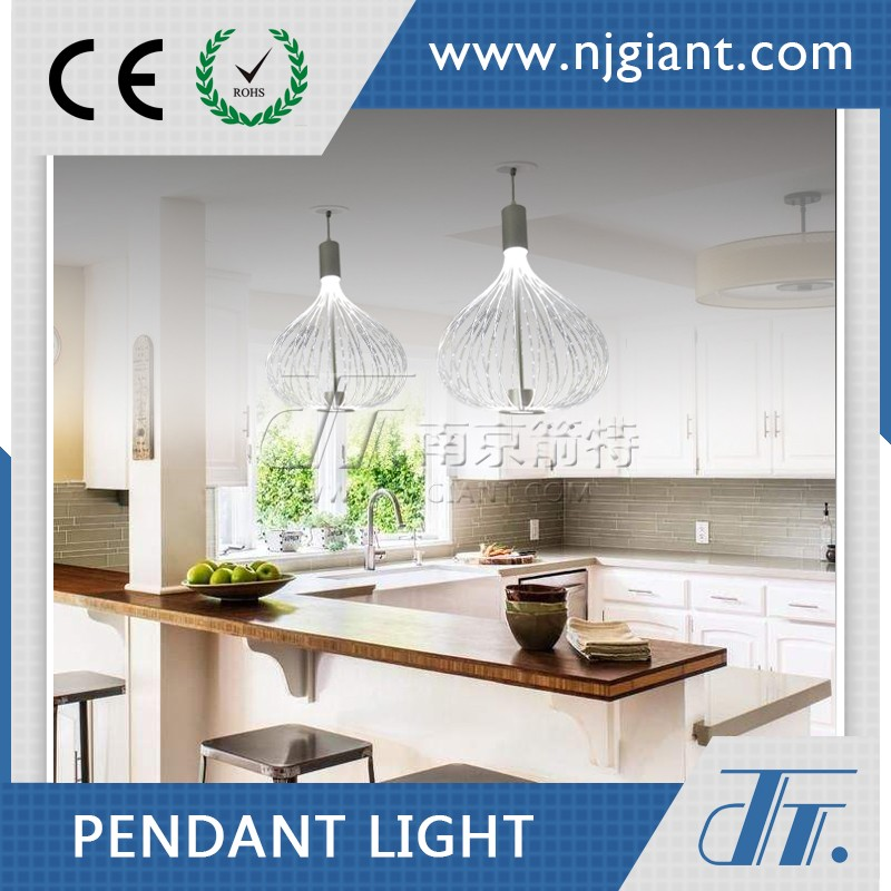 Dinning room decorative light led optical fiber pendent lamp