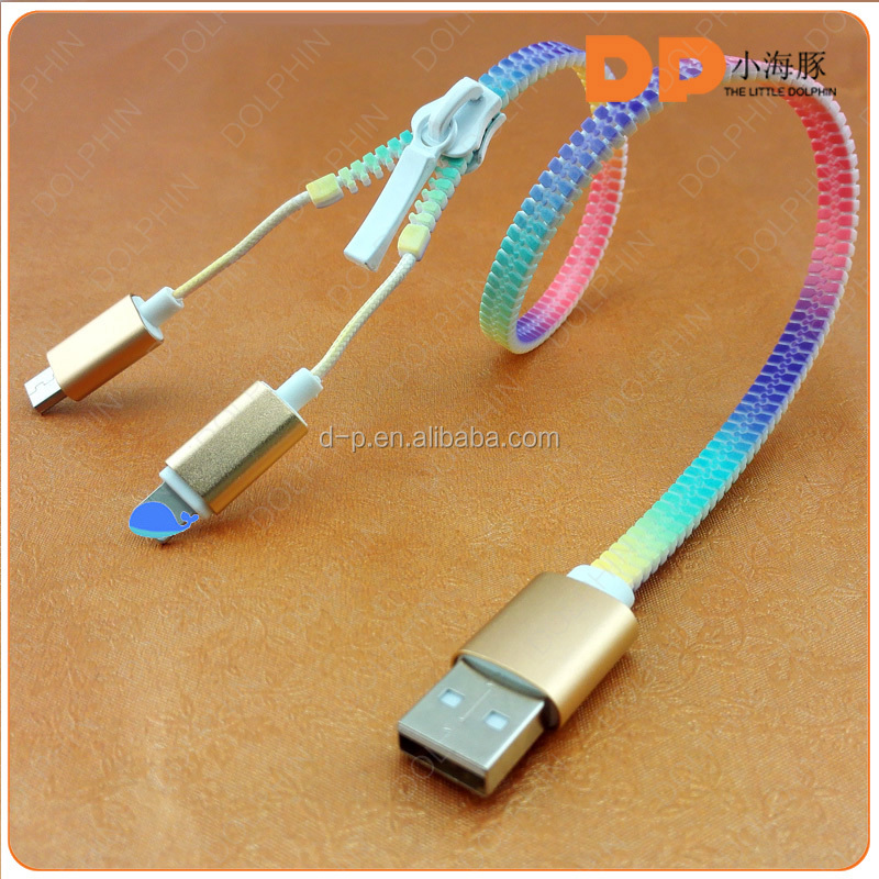 new products 2016 zipper charging sync data cable micro usb cable for huawei mate 8