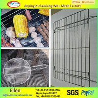 Barbecue wire mesh/With the handle circle barbecue wire mesh made in China
