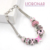 New Arrival Breast Cancer Bracelet Wheat Chain with Pink Clover Pink Ribbon Bracelet for Breast Cancer Compaign Gift Jewelry