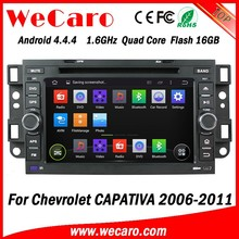 Wecaro Android 4.4.4 WIFI 3G touch screen car radio navigation multimedia dvd player for chevrolet captiva car dvd gps 2006-2011