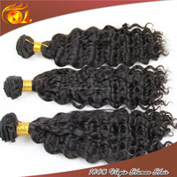 Best selling 6A top quality New arrival deep wave grey remy human hair weave