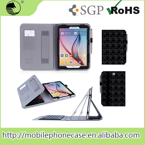 PU Black Tablet Case For samsung galaxy tab s2 case