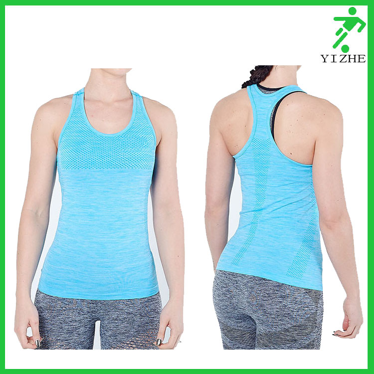 OEM plus size custom sleeveless quick dry Women's Basic Jersey Racer-Back xxl Tank Top