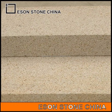 eson stone ES-18 g682 ,rusty yellow granite stairs ,composite stair tread