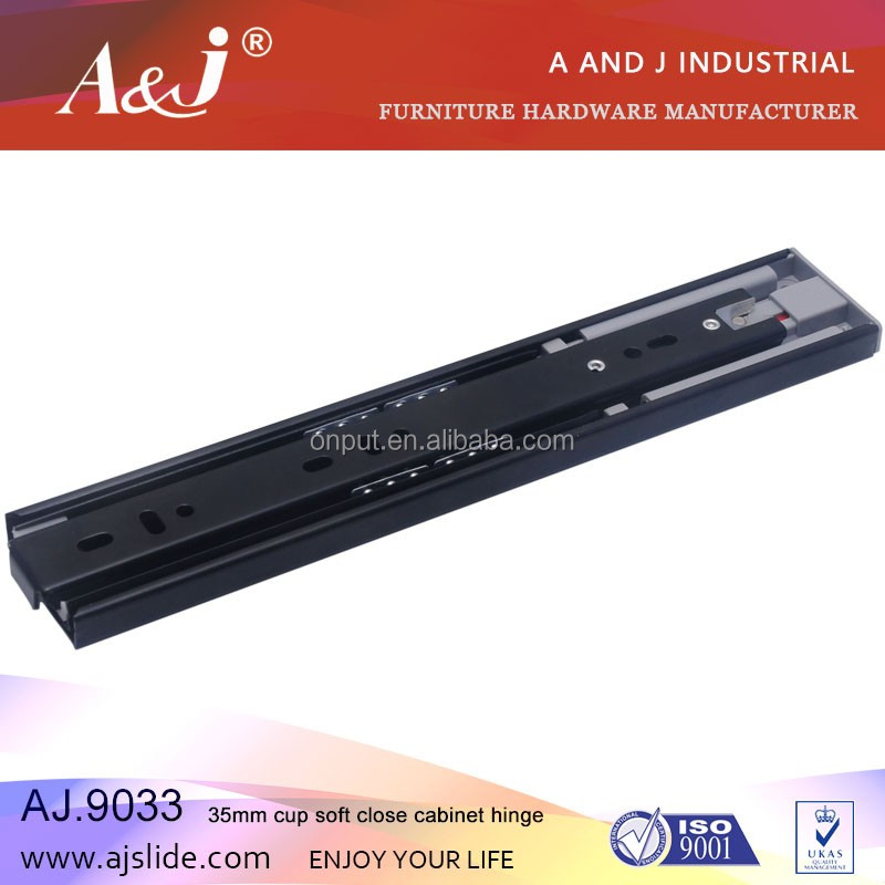 High quality 45mm soft close kitchen cabinet drawer slide channel