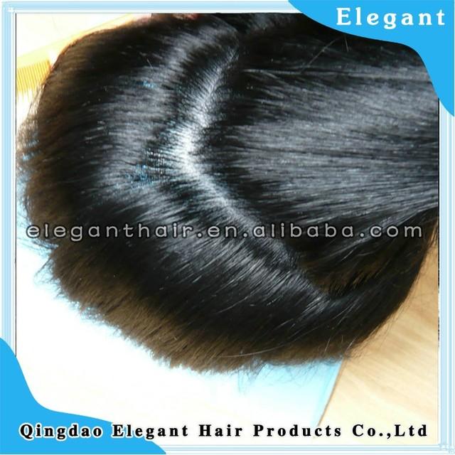 thin pu skin injected hair human hair men's toupee hair piece
