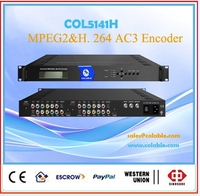 COL5141H 4 CH HD-MI MPEG-2&H.264 DVB Encoder to IP