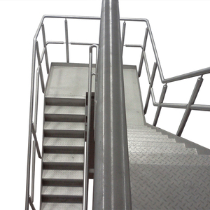 Customized mirror round brushed stainless steel handrail for stairs