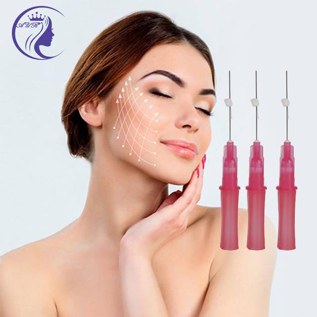 Double needle PDO Collagen Face Lifting Thread