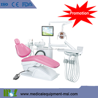 MSLDU13-Memory Program Dental Chair Unit with LED sensor lamp light cure and scaler,CE
