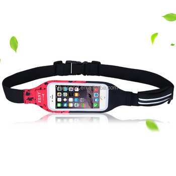 New design Double pouch waterproof running waist pack with touchscreen