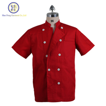 Modern hotel restaurant classic short sleeve chef coat uniform