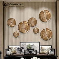 Handmade Welding Round Shape Abstract Metal 3D Wall Mural for Home Decoration