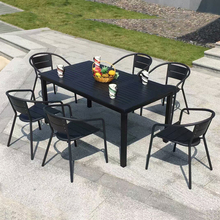 Outdoor garden furniture waterproof polywood dining table Chair for RH120