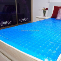 Purple color soft PU cooling gel pads for mattress topper
