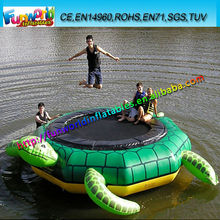 Turtle Jump 15-Foot Water Trampoline, Inflatable Floating Trampoline For Sale