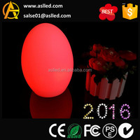 cordless rechargeable egg shape led table lamp outdoor D15*H22cm