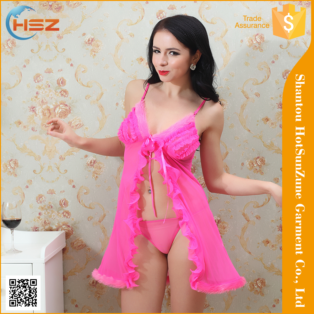 HSZ-6022# Wholesale sexy women fancy nighty nude transparent dress girl nighty sexy night girls nighty sexy wear lingerie
