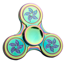 New designed rainbow zinc alloy hand spinner fidget for adults stress reliever