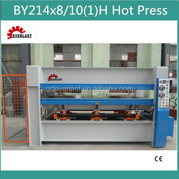 BY21 4*8/10(1)H Hot Press Machine/MDF Laminate Hot Press