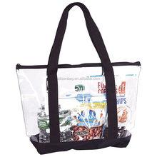 Hot Sale PVC Clear Waterproof Transparent Tote Beach Bag Clear Plastic Tote Bags
