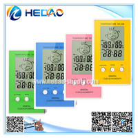Beautiful LCD display thermometer with talking clock