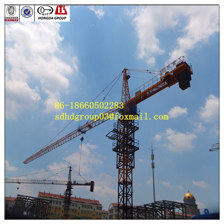New tower crane 2015, Hongda construction machine 10 tons QTZ160(6516) moving tower crane