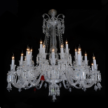 Baccarat Classic up gold with Clear Luxury big K9 Crystal Chandelier Pendant Light