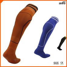 2015 Mens Anti-Foul Breathable Adults Knee High Football Socks with Stripes