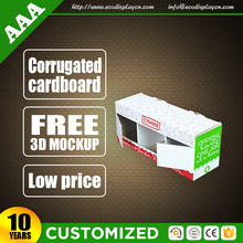 Cheap Price Customized Printing Paper Display Box With Window For Oil Promotion