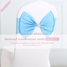 sky blue new model high quality hot selling fashion wedding chair sash