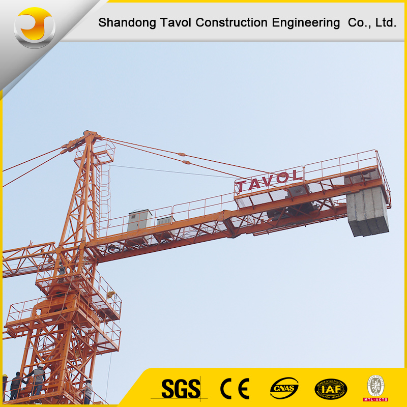 QTZ80 6 ton tower cranes of construction building lifting equipment