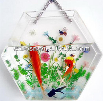 Hot! Wall Mounted Acrylic Aquarium with good quality for sale